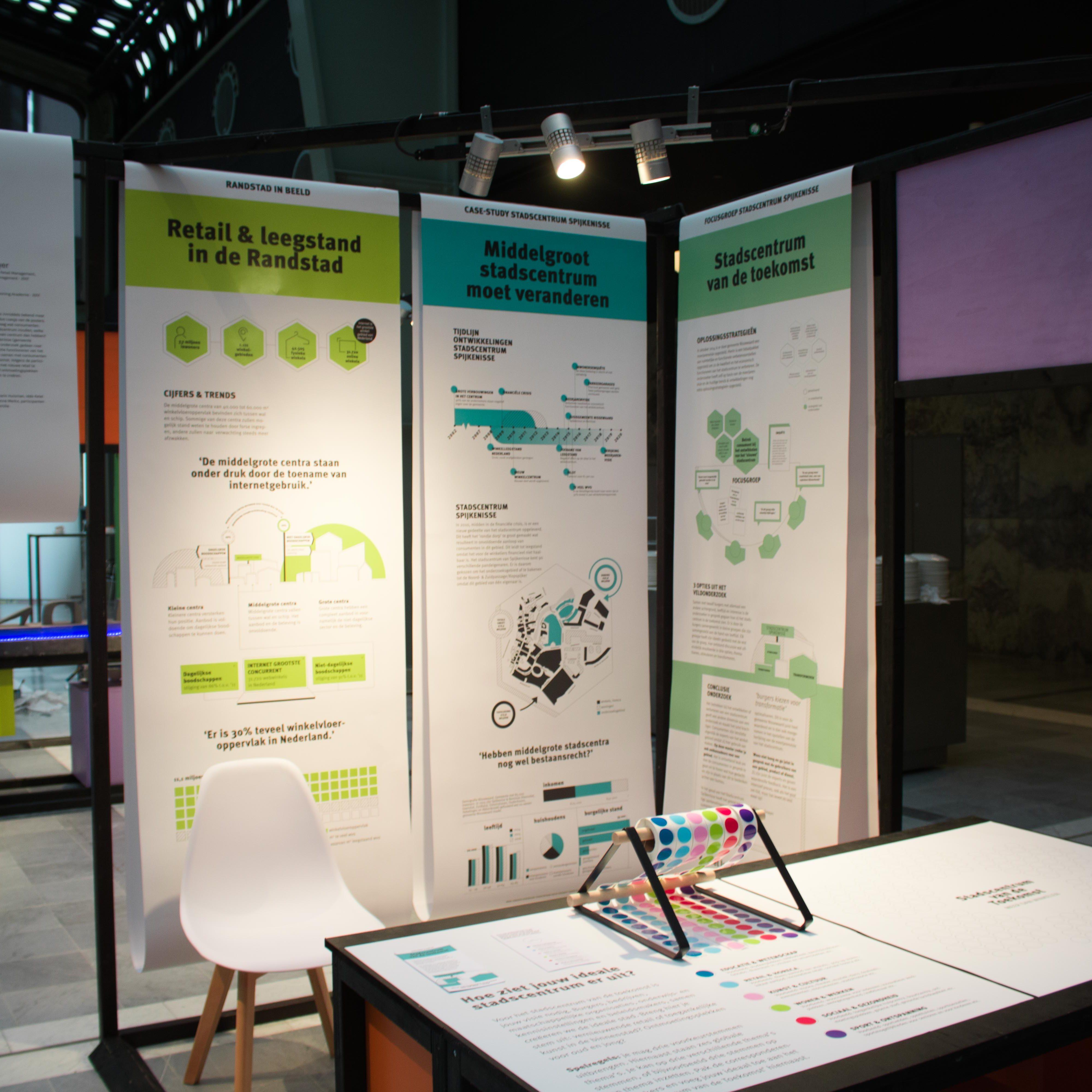 Ontwerp expositie 'Stadscentrum van de Toekomst' voor expositie Retailution in het WTC Rotterdam.